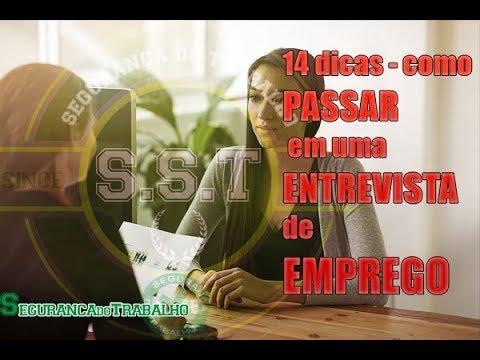 14 Dicas - ENTREVISTA de EMPREGO - Site Segurança do Trabalho