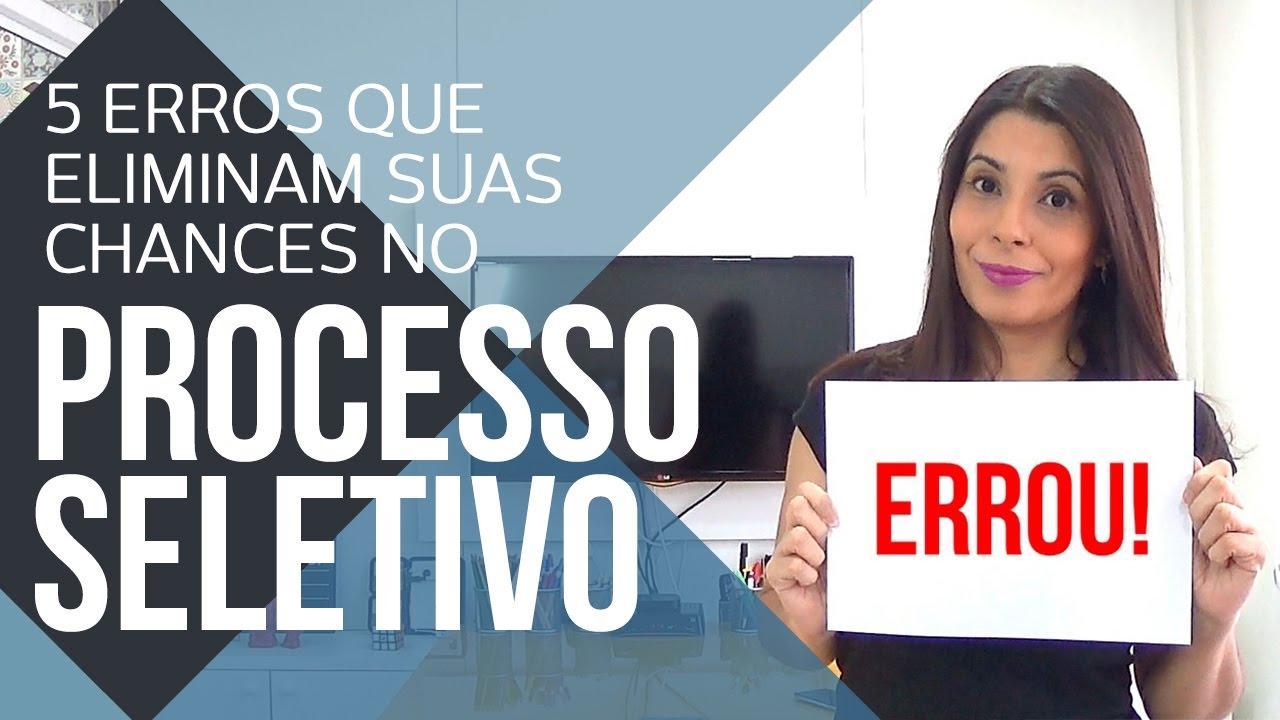 ENTREVISTA DE EMPREGO: 5 ERROS QUE ELIMINAM SUAS CHANCES NO PROCESSO SELETIVO | CANAL DO COACHING