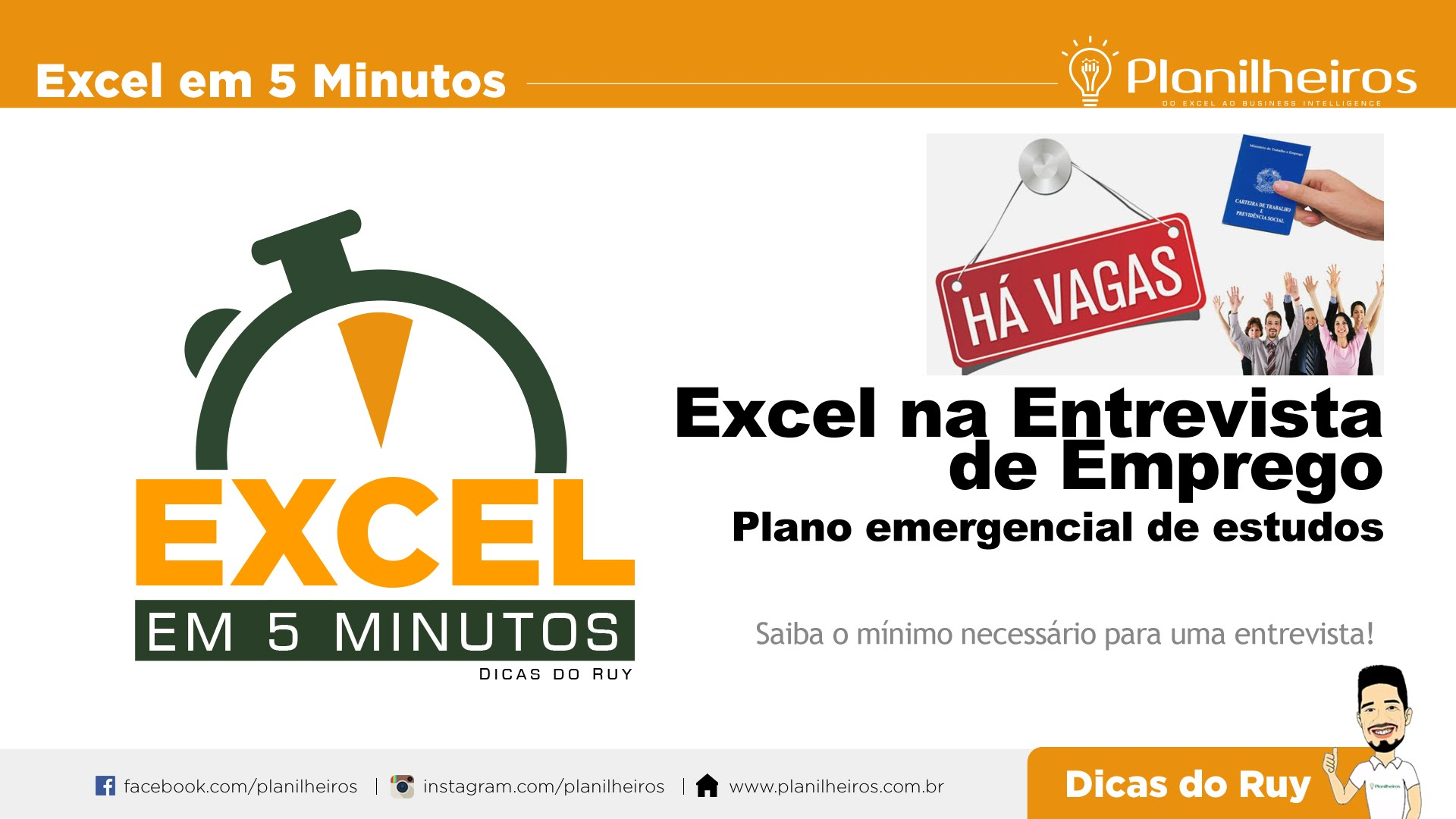 EXCEL em 5 Minutos - Entrevista de emprego (Plano de estudo emergencial de Excel)