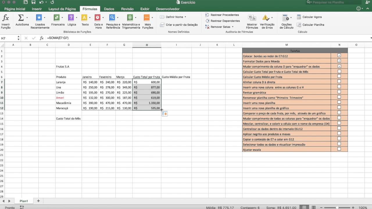 Excel Básico - Exercício - Entrevista de Emprego - 1