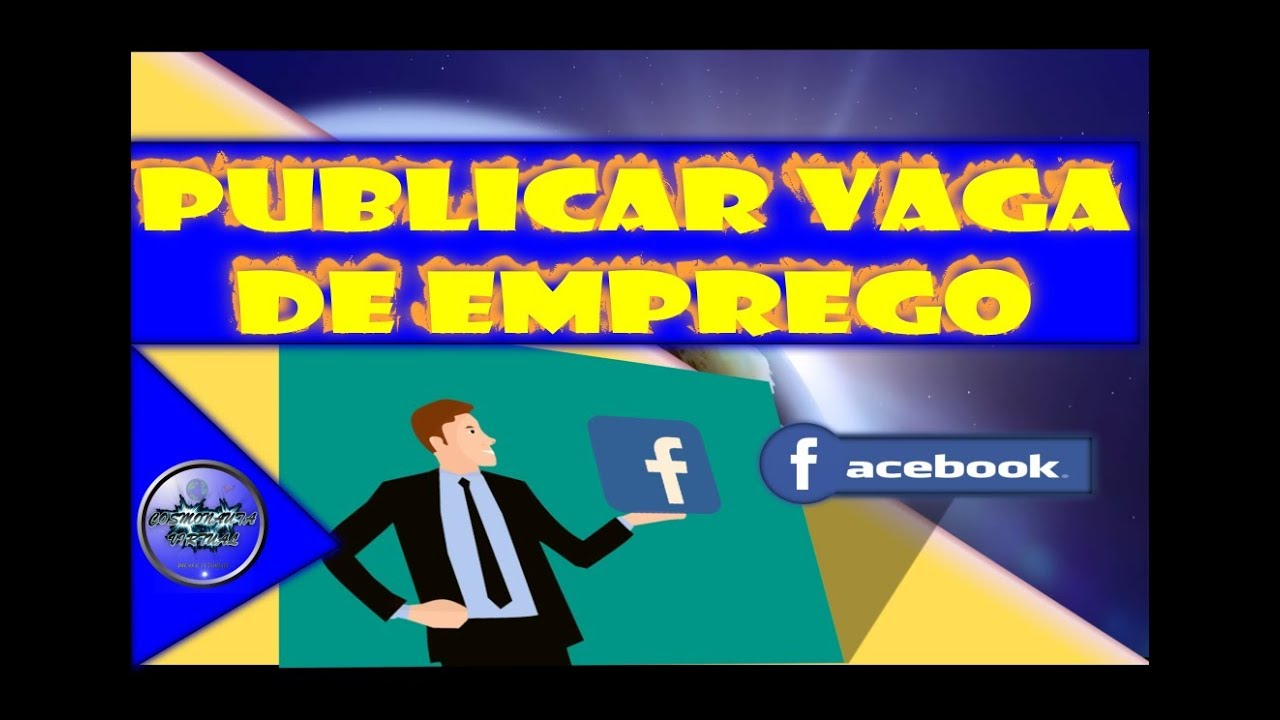 Procurar e Publicar Vagas de Emprego pelo Facebook
