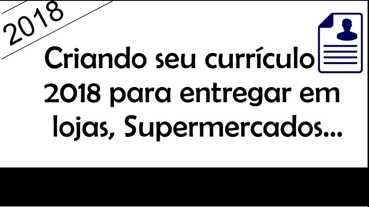 COMO FAZER UM CURRÍCULO 2018