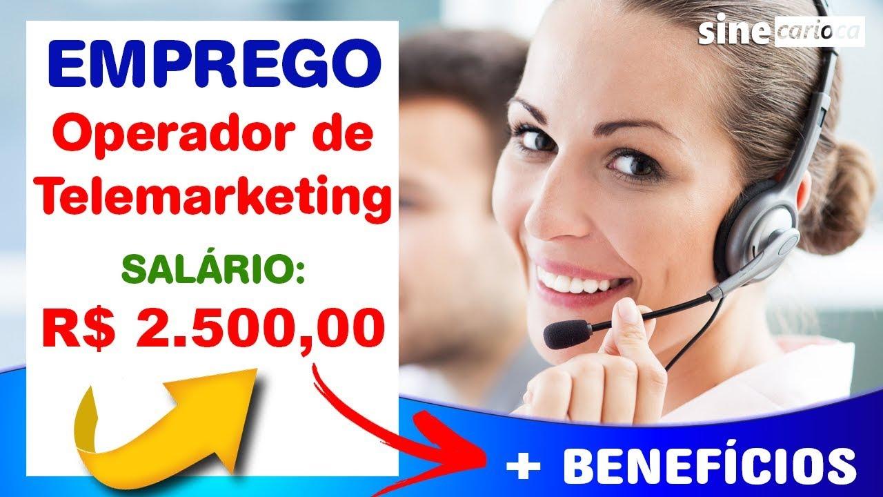 VAGA DE EMPREGO - Operador de Telemarketing - Salário R$ 2.500,00
