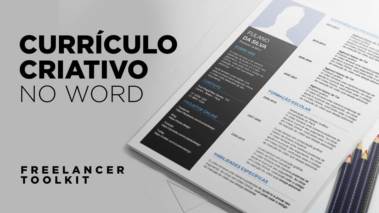 Criando um currículo criativo no Word - Freelancer Toolkit #1