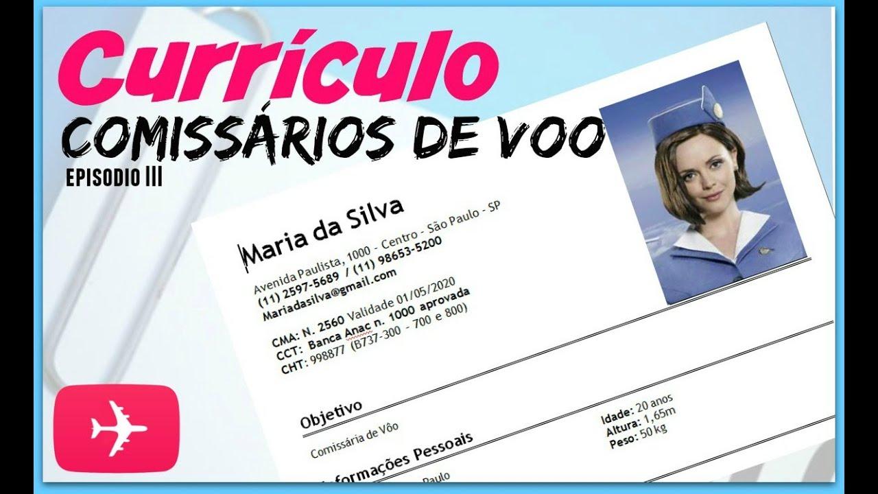 ✈ COMO FAZER CURRICULO PRA COMISSARIO DE BORDO - Ep. III