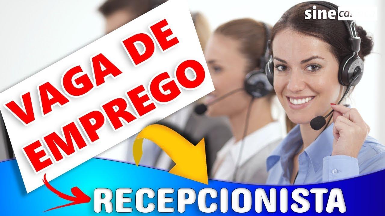 VAGA DE EMPREGO - Recepcionista