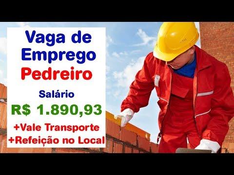 VAGA DE EMPREGO Pedreiro