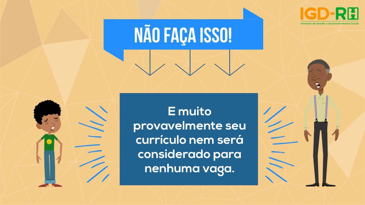 DICA 5 - DADOS PESSOAIS NO CURRÍCULO
