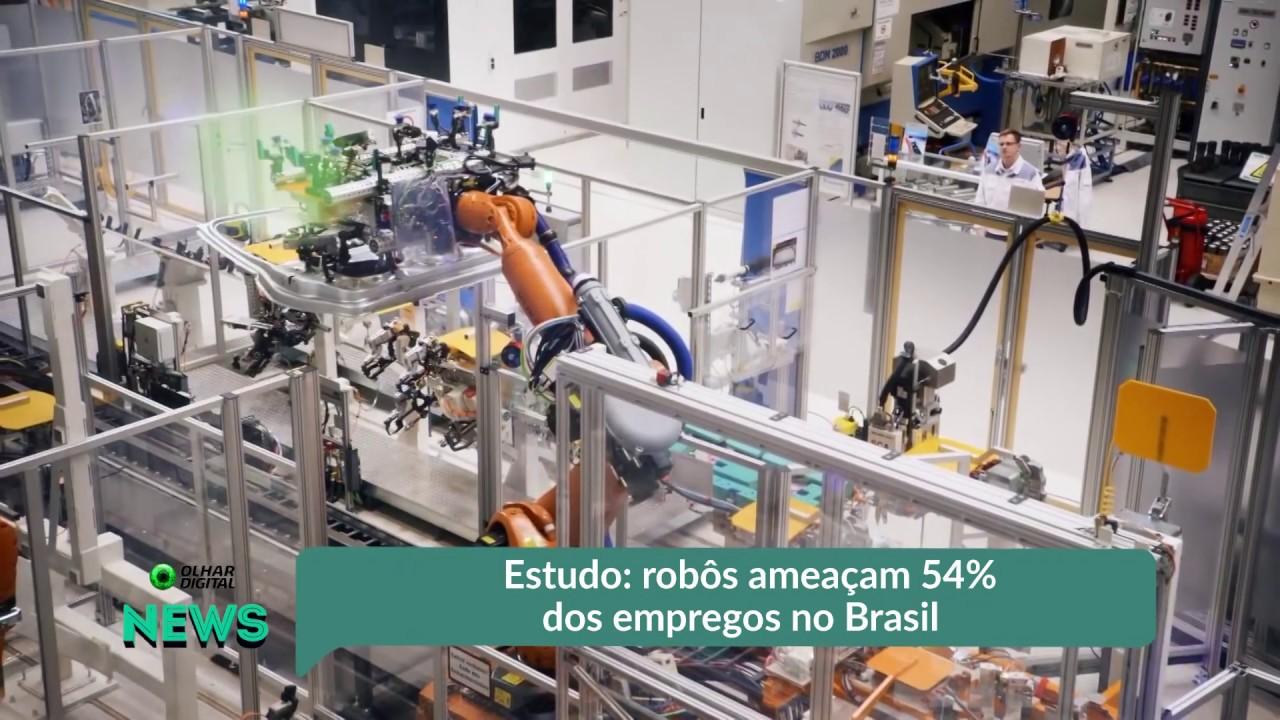 Robôs ameaçam 54% dos empregos no Brasil, segundo estudo