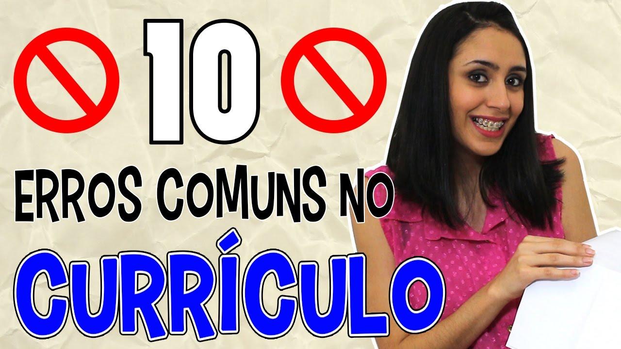 10 ERROS COMUNS NO CURRÍCULO