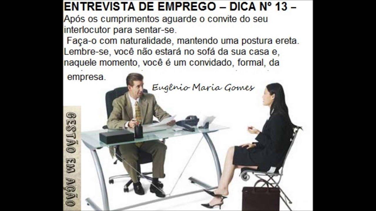 DICA NÚMERO 13 PARA UMA BOA ENTREVISTA DE EMPREGO