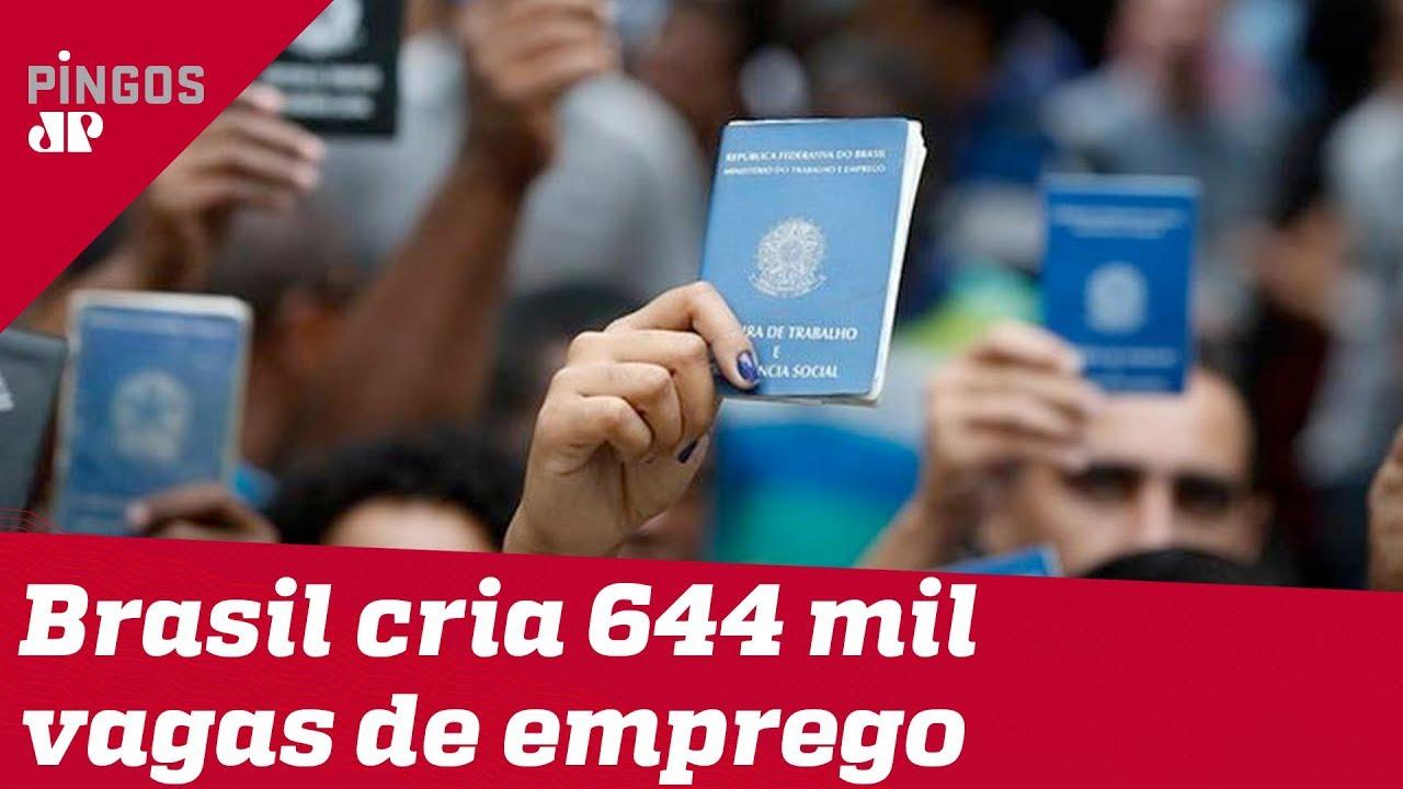 Brasil cria 644 mil vagas de emprego em 2019