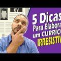COMO FAZER UM CURRÍCULO: 5 Dicas para SALVAR sua vaga de EMPREGO|| P.E com Fernando Alves