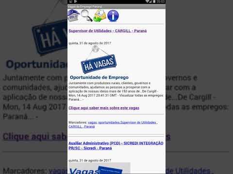 Vagas de Empregos e Estágios para o Estado do Paraná.