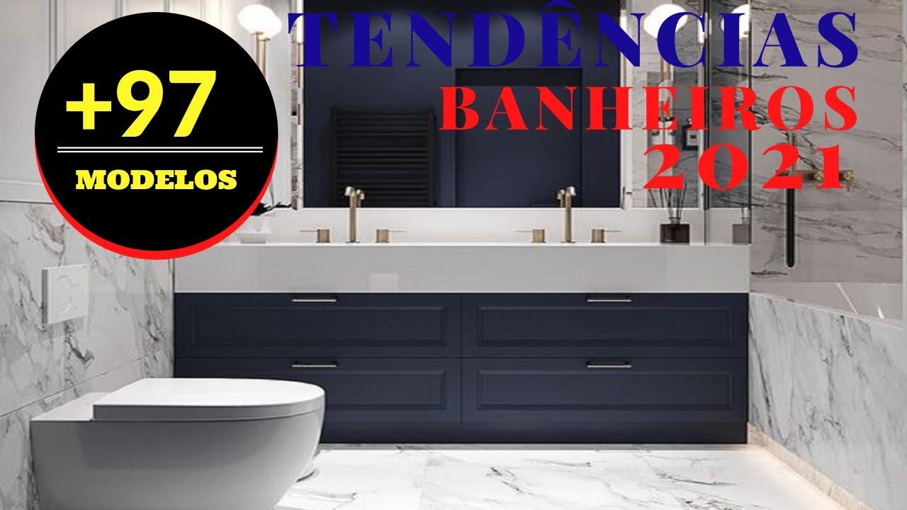 7 Novas Tendências para Banheiros em 2021:Dicas e Modelos