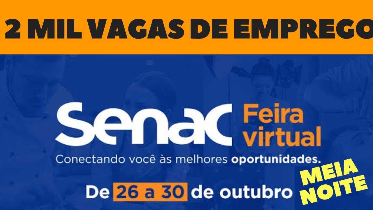 FEIRA EMPREGO SENAC: 2 mil vagas de emprego no Estado do Rio