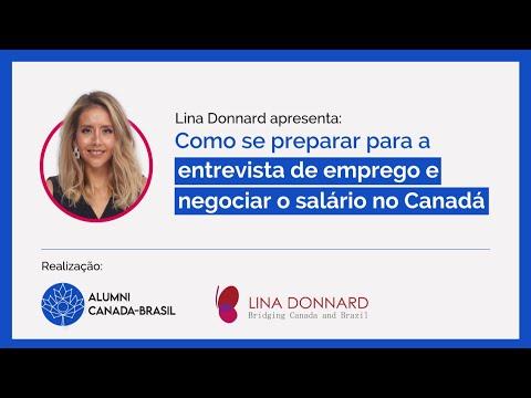 Como se preparar para a entrevista de emprego e negociar o salário no Canadá - com Lina Donnard