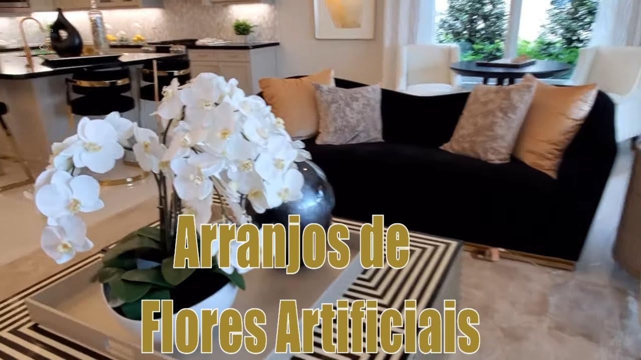 Dicas de Lindos Arranjos Florais Artificiais em Casa Decorada By Eleny Inoue - Nature Flores =